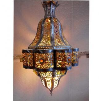 lamparas de forja cristal 75 alto x 45 diámetro