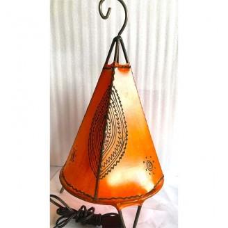 lamparas de piel y forja pequeñas 36 alto x 16  ancho