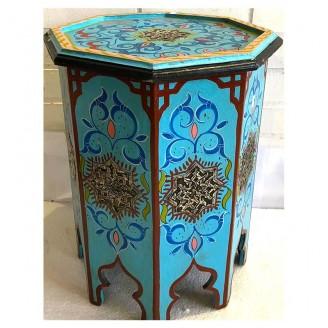 Mesitas árabe de madera y metal 70x40