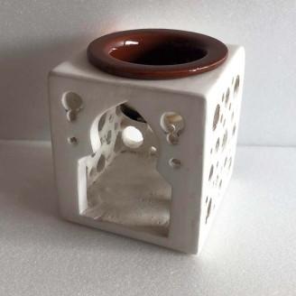 Portabela con quemador de aceite ceramica