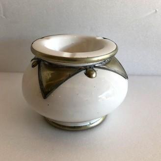 Cenicero ceramica acabado metalico