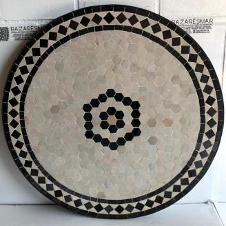 Mesa de mosaico artesanal árabe