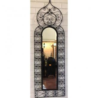 Espejo de forja con cristal